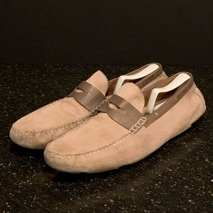 Hugo Boss 2Tone Suede/Leather Penny Loafers 12M